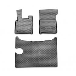 Guminiai kilimėliai DAF XF 2014→ (Pilkos spalvos, Pakeltais kraštais)