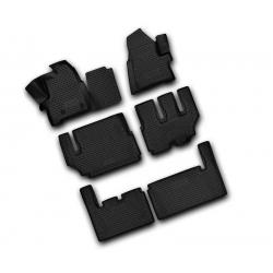 Guminiai kilimėliai FORD Tourneo Custom (8 vietų) 2013→ (pakeltais kraštais)