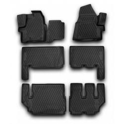 Guminiai kilimėliai FORD Tourneo Custom (9 vietų) 2013→ (pakeltais kraštais)