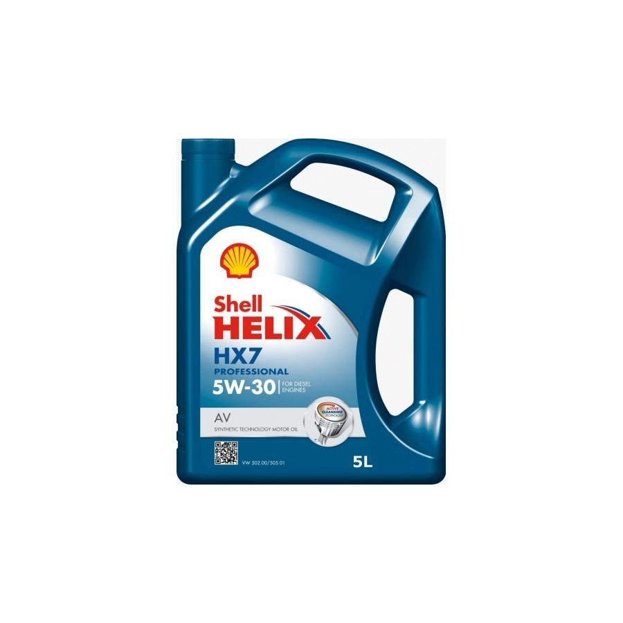 Tepalas SHELL HELIX HX7 Professional AV 5W30, 5L