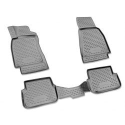 Guminiai kilimėliai LADA Largus (7 vietų) 2012→ (Pilkos spalvos, Pakeltais kraštais)