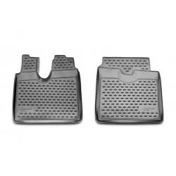Guminiai kilimėliai MAN TGA LX 2012→ (Pilkos spalvos, Pakeltais kraštais)