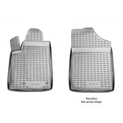 Guminiai kilimėliai DACIA Dokker (Cargo) 2015→ (Priekiniai, Pilkos spalvos, Pakeltais kraštais)