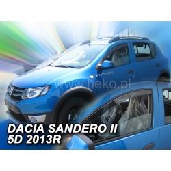 Vėjo deflektoriai DACIA SANDERO II 4 durų 2013→ (Priekinėms durims)