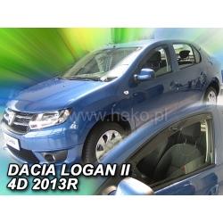 Vėjo deflektoriai DACIA LOGAN II 4 durų 2013→ (Priekinėms durims)