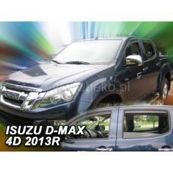Vėjo deflektoriai ISUZU D-MAX II 4 durų 2012→ (Priekinėms ir galinėms durims)