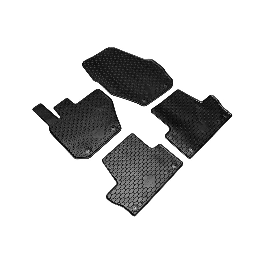 Guminiai kilimėliai VOLVO XC60 2008-2017 (su originaliais tvirtinimais, juodos spalvos)
