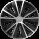 Ratų gaubtai R15 sidabriniai-juodi RAPIDE SILVER-BLACK