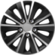 Ratų gaubtai R15 sidabriniai-juodi RAPIDE NUTS CHROME SILVER-BLACK