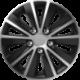 Ratų gaubtai R16 sidabriniai-juodi RAPIDE NUTS CHROME SILVER-BLACK