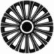 Ratų gaubtai R15 ARGO LEMANS Silver&Black