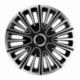 Ratų gaubtai R15 ARGO MOTION Silver&Black