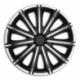 Ratų gaubtai R15 ARGO NERO Silver&Black