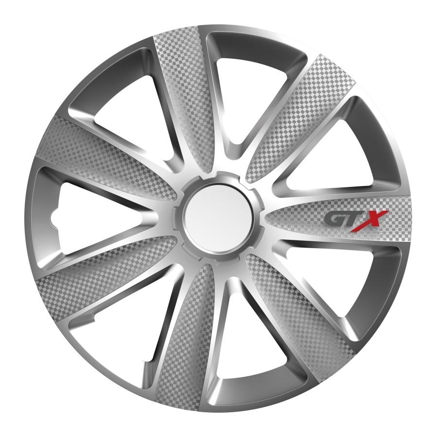 Ratų gaubtai R14 sidabriniai GTX CARBON