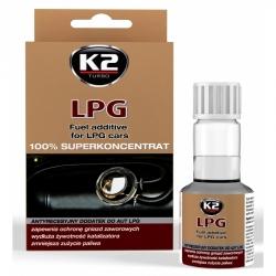Priedas benzinui varikliams su dujomis K2 LPG 100% SUPERCONCENTRAT, 50ml