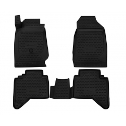 Guminiai kilimėliai ISUZU D-Max (Sėdynės mechaninio valdymo, automatinė pavarų dėžė) 2016→ (pakeltais kraštais)