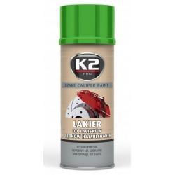 Stabdžių suportų dažai K2 BRAKE CALIPER PAINT 400ml (žali)