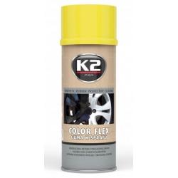 Gumuoti dažai K2 COLOR FLEX 400ml (geltoni)