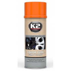 Gumuoti dažai K2 COLOR FLEX 400ml (oranžiniai)