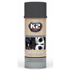 Gumuoti dažai K2 COLOR FLEX 400ml (juodi, matiniai)