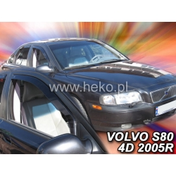 Vėjo deflektoriai VOLVO S80 4 durų 1998-2006 (Priekinėms durims)