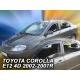 Vėjo deflektoriai TOYOTA COROLLA Sedan 2002-2007 (Priekinėms ir galinėms durims)
