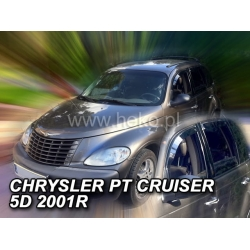 Vėjo deflektoriai CHRYSLER PT CRUISER 5 durų 2001-2010 (Priekinėms durims)