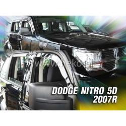 Vėjo deflektoriai DODGE NITRO 5 durų 2006-2012 (Priekinėms durims)