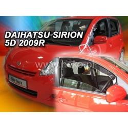 Vėjo deflektoriai DAIHATSU SIRION 5 durų 2004-2015 (Priekinėms durims)