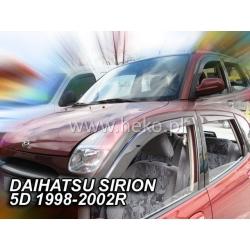 Vėjo deflektoriai DAIHATSU SIRION 5 durų 1998-2005 (Priekinėms durims)