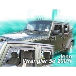 Vėjo deflektoriai JEEP WRANGLER 5 durų 2007→ (Priekinėms durims)