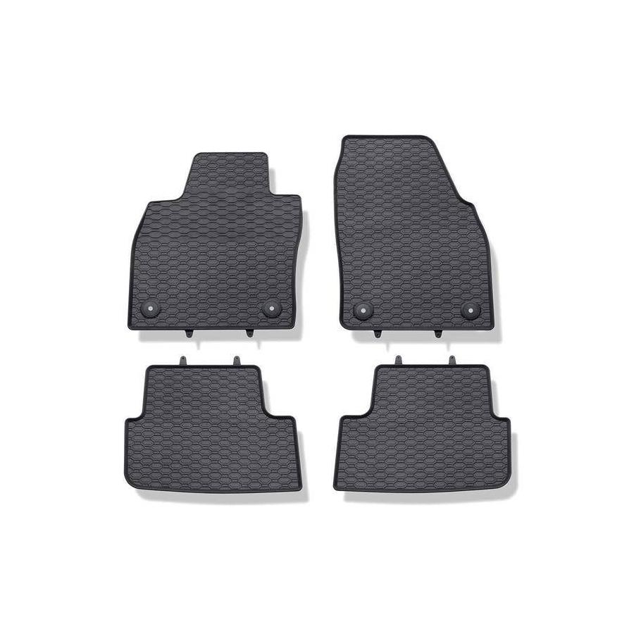 Guminiai kilimėliai AUDI A1 2018→ (su gamykliniais fiksatoriais)
